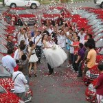 That is one happy bride!