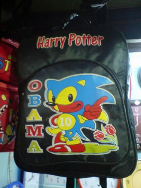 Harry Potter x OBAMA x Sonic Backpack
